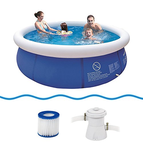 Jilong Marin Blue Pool Set Ø300x76cm Quick-up Swimmingpool Schwimmbecken inkl. Pumpe Filterkartusche
