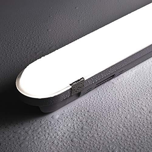 BULING LED Feuchtraumleuchte 120cm 40w im Reihenschaltung, LED wannenleuchte IP65 4000K Neutralweiß Klassisches Aussehen für Außenanwendungen