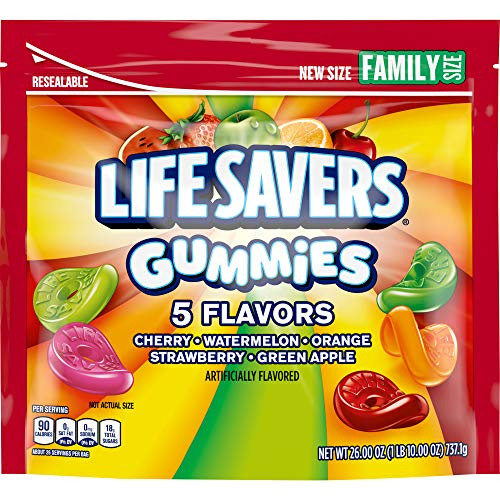 Life Savers Gummies 5 Flavors Candy, 26 Ounce (Pack of 6)