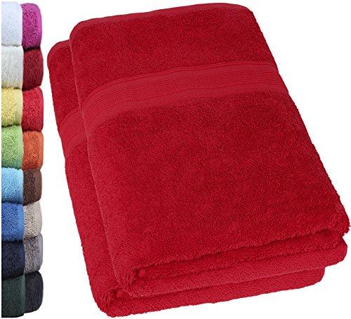 NatureMark 2er Pack DUSCHTÜCHER Premium Qualität 70x140cm DUSCHTUCH Dusch-Handtuch Doppelpack Farbe: Bordeaux rot