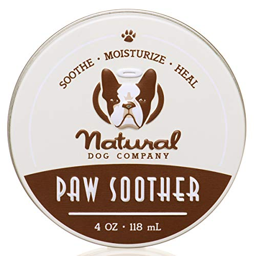 Natural Dog Company Paw Soother (4oz / 118ml Tin) | All Natural Dog Paw Balm | Organic and Vegan | Veterinarian Approved Paw Pad Moisturizer | Heals and Soothes Dry, Cracked, and Rough Paws