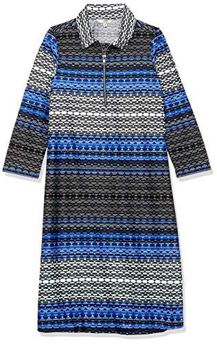AND Women's Synthetic Mini A-Line Dress (RW19AB001DRZ60BLU/PRT10_BLU/PRT_10)