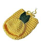 Beaums Piña Adorable bebé de la Forma de Ganchillo Hecho a Mano de Punto de Lana Sleengping Ajustable Bolsas Sombrero Juego