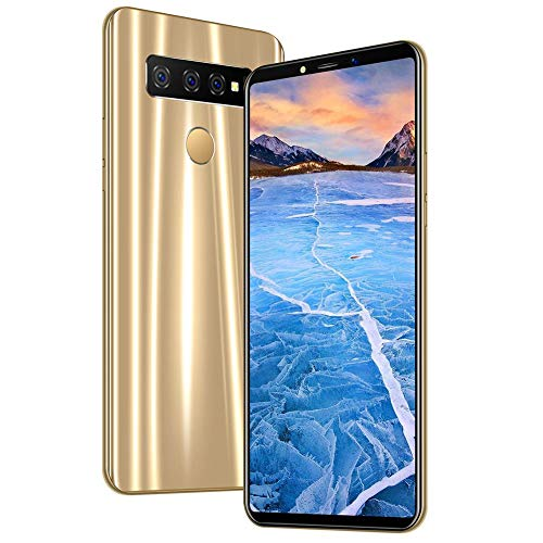 6.1' Unlocked Smartphone with HD Full Screen, Android 9.1 System, Face Recognition, 4+64G, Octa-Core Dual Card Dual Standby,Dual Camera(US)