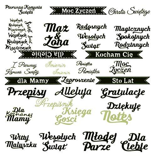 LHZUS Carta de Plantillas de troques de Corte de Metal para decoración de Scrapbooking de Bricolaje Tarjeta de Grabado en Relieve Corte de Troquel