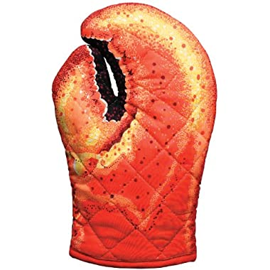 Boston Warehouse Lobster Claw Oven Mitt, Quilted Cotton, Designed for Light Duty Use, by