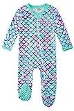 UNIFACO Baby Girl Outfits 6-9 Months Romper Long Sleeve Zip Up Sleepers Newborn Jumpersuit Bodysuit