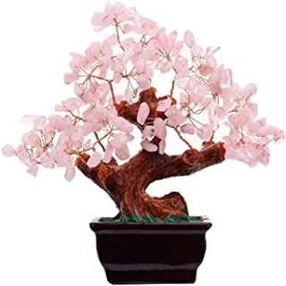 Tesco store Natural Rose Quartz Crystal Money Tree Bonsai Style Decoration (Wealth and Luck)