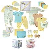 Luvable Friends Unisex Baby Gift Cube, Yellow Giraffe, 24-Piece Set, 0-6 Months