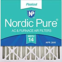 Nordic Pure 20x20x4M14-1 Pleated AC Furnace Air Filter, Box of 1 by Nordic Pure