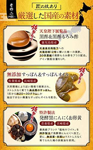 匠のすっぽん堂天皇陛下展覧品黒酢黒にんにく卵黄アミノ酸2130mg国産120粒