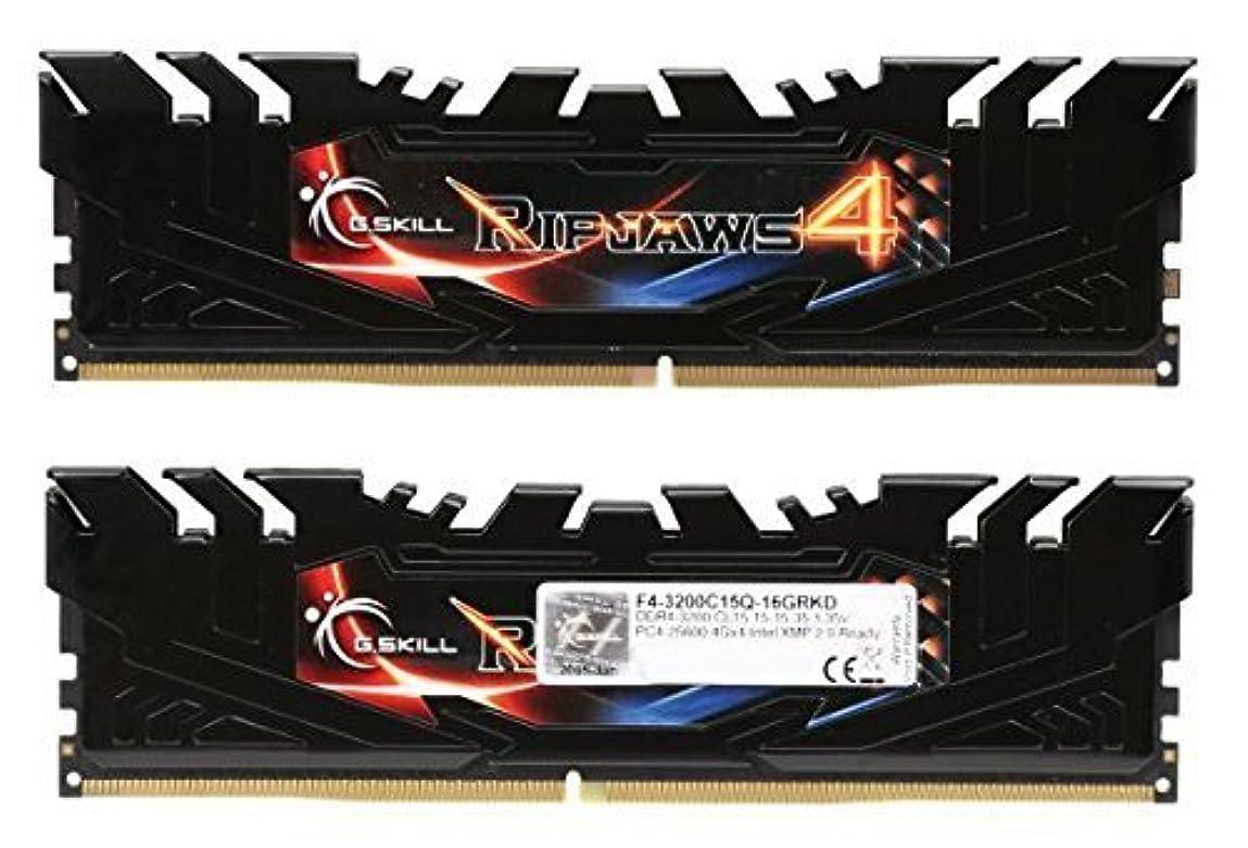 しつけ土砂降り幾何学G.SKILL Ripjaws 4 series 16GB (4 x 4GB) 288-Pin DDR4 SDRAM DDR4 3200 (PC4-25600) Intel X99 Platform Extreme Performance Memory Kit Model F4-3200C15Q-16GRKD by G.SKILL [並行輸入品]