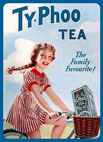 Ty-Phoo Tea Metal Sign,Retro,Shabby-Chic,Vintage Aluminum Metal Signs Tin Plaque Wall Art Poster For Garage Man Cave Cafe Bar Pub Club Patio Home Decoration 12