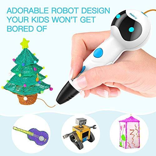 3D Stifte für Kinder, Nulaxy 3D Druckerstifte Roboter Pen mit 6 Farbe 1.75mm PLA Filament Gutes Kinderspielzeug, Geburtstags-und Weihnachtsgeschenke und praktisches Werkzeug für 3D-Drucker Besitzer (Stifte) - 6