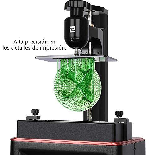 ELEGOO MARS Impresora 3D UV Fotocurado con 3.5' Pantalla Táctil Inteligente de Color Impresión Fuera de Línea 4.53in(L) x 2.56in(W) x 5.9in(H) Tamaño de Impresión