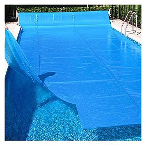 Pool Cover Natación, mantas solares rectangulares azules, almohadillas de plástico para calefacción de burbujas, para patio, piscinas inflables, lona (tamaño: 5 m x 8 m)