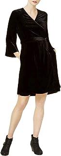 Eileen Fisher Womens Petites V-Neck Bell Sleeve Wrap Dress