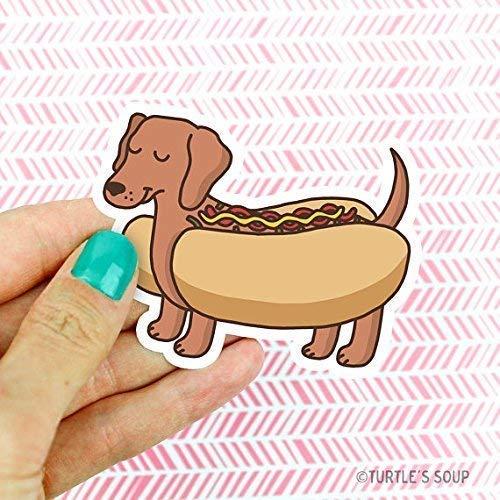 Dachshund Sticker, Doxie, Hot Dog Sticker, Funny Vinyl Stickers, Puppy, Dog Lover, for Friend