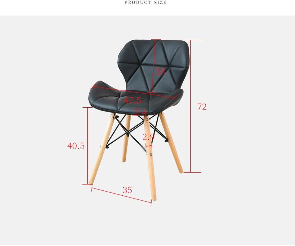 HXF- Chaise de négociation Moderne en Bois Massif Chaise de Dossier Chaise créative Durable (Color : A) A