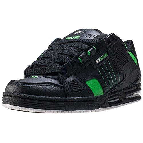 GLOBE Sabre, Zapatillas de Skateboarding Hombre, Negro (Black/Moto Green), 40.5 EU