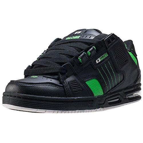 Globe Sabre - Scarpe Da Skateboard Unisex Adulto, Nero (Black/Moto Green), 40
