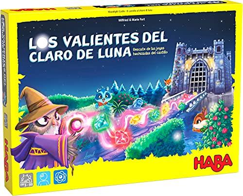 HABA 306486 - Los Valientes del Claro de Luna - Rescate de Las Joyas hechizadas del Castillo, Juego Infantil de Mesa de acumulación. Más 5 años