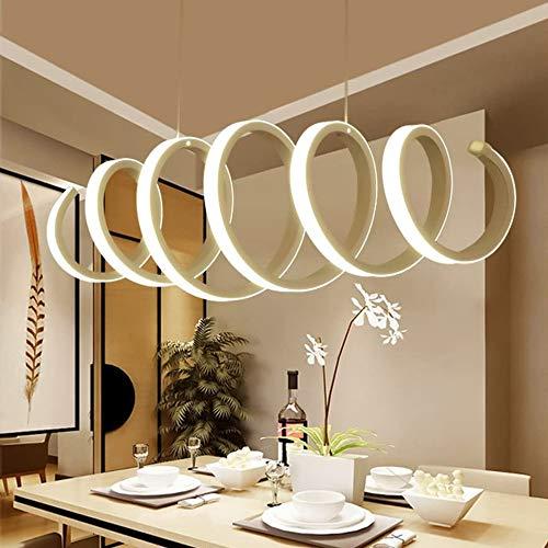 Pendelleuchte Dimmbar LED Acryl Spiral Kronleuchter Esszimmerlampe Moderne Kreative Höhenverstellbar Decken-Leuchte Dekorative Hängeleuchte Wohnzimmer Büro Jugendzimmer Lampe,External light,100cm