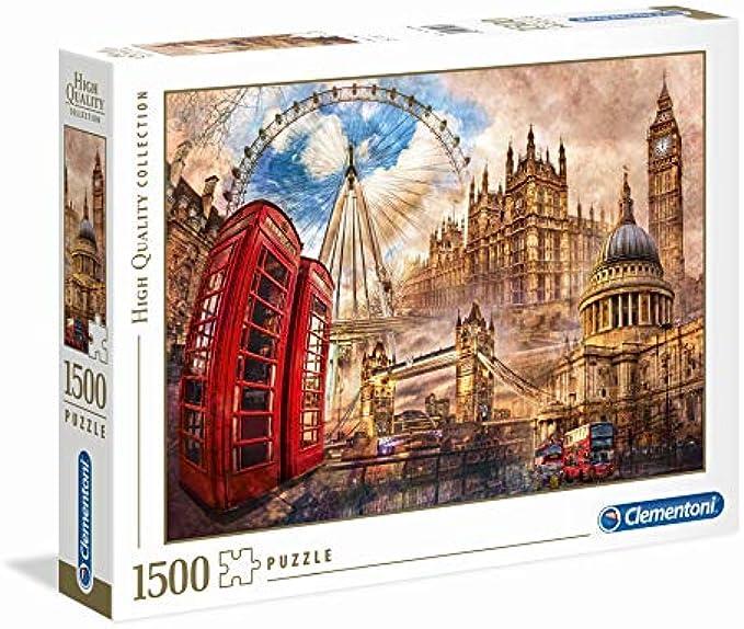 Clementoni 31807 Clementoni-31807 Collection-Vintage London-1500 Pieces