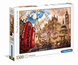 Clementoni- Vintage London Collection Puzzle, 1500 Pezzi, 31807