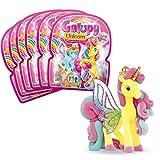 Craze GALUPY Unicorn Encantador Unicornio Juego de 6 Figuras de Ponis para coleccionar, 27752, Diferentes variaciones de Color