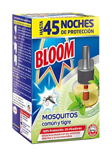 Bloom Insecticida Eléctrico Líquido Contra Mosquitos Común y Tigre Fragancia Menta –1 Recambio
