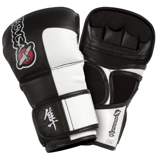 Hayabusa Tokushu Hybrid Gloves, Midnight Black, 7-Ounce
