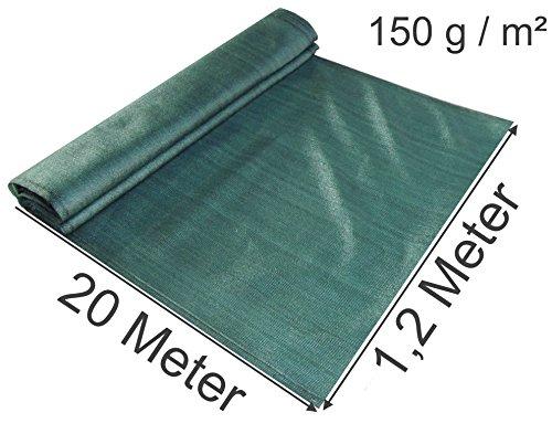Steiger windscherm stofbescherming stofvanger windvanger voor bouwplaats als bescherming tegen weersinvloeden bouwplaatsbescherming B-product in groen donkergroen 120 cm hoch / 20 Meter lang