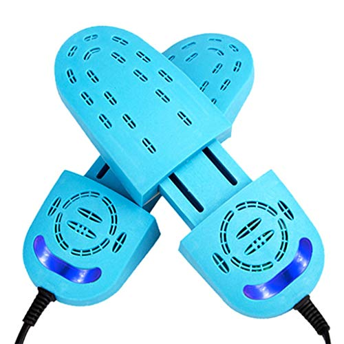 GSTN Secador de Zapatos, Hornear Pies Desodorante Calzado UV Esterilización telescópica sección de Secado Calentador Calentadores para los Zapatos, Guantes, Calcetines,Azul