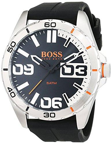 Hugo Boss Orange 1513285 - Reloj analógico de pulsera para hombre, correa de silicona