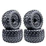 DishyKooker 4 ruote 1/10 RC 130 mm Monster Truck Buggy Crawler pneumatici esagonali 0,47 pollici per Racing RC Off-Road On-Road accessori auto per Tr-ax-xas Ta-m-iya Kyo-sho HPI HSP Sav-age XS TM