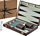 Jaques of London Backgammon Set - 11 Zoll - Luxus-Backgammon-Set - Great Reise - Backgammon-Set