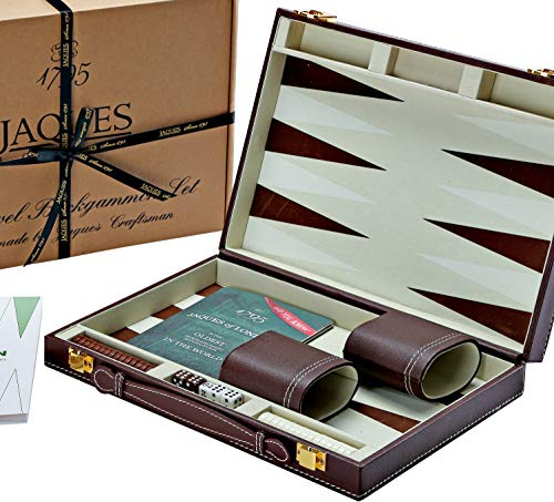 Jaques of London Backgammon Set - 11 Zoll Backgammon-Set - Great Reise - Backgammon-Set