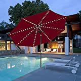 Patio Umbrella Lights Cordless Parasol String Lights with Remote Control 8 Mode 104