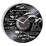 wwccy Entrenamiento de natación Reloj de Pared Vintage Buceo Concurso...