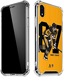 Skinit Clear Phone Case for iPhone XR - Officially Licensed NHL Players Sidney Crosby #87 Action Sketch Design
