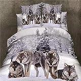 Bedclothes-Blanket Juego de sabanas Infantiles Cama 90,Ropa de Cama Doble de patrón 3D-X_Caso (2.2x2.4 Metros)