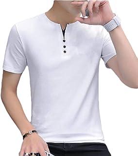 desolateness Mens Casual Slim Fit V Neck Short Sleeve Fashion Summer T-Shirt