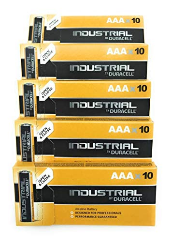Duracell Industrie-Alkaline-Batterien, AAA, Orange, 50 Stück