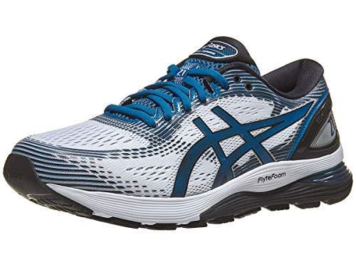 ASICS Gel-Nimbus 21 (4E) Chaussures de course pour homme, Blanc (Blanc/saphir profond.), 44.5 EU