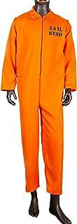 Oranje Gevangene Jumpsuit Volwassen Penitentiaire Kostuum Halloween Cosplay Party