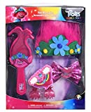Trolls 2 Hair Accessories Set with Brush, Clips, Bow & Hair Costume Trolls for Girls, Poppy Troll Hair Accessories Gift Set, Princess Flower Hairband
