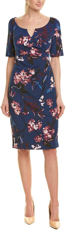 Adrianna Papell Womens VNTG Fl Vine Elbow Slve Dress Dress