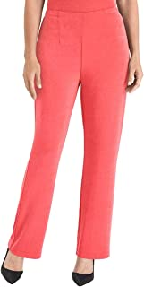 Women's Travelers Classic No Tummy Wrinkle Resistant Pull On Straight Leg Pants