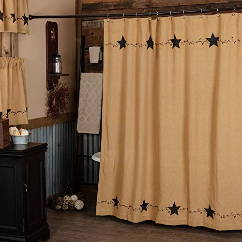 Star and Pip Country Primitive Shower Curtain 72x72